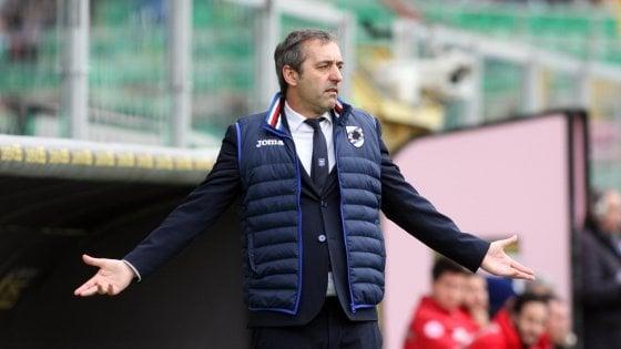 """Sampdoria, Giampaolo fissa l'obiettivo: """"Vogliamo essere la prima fra le altre"""""""
