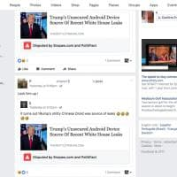 Trump e i leaks: la prima notizia bollata da Fb come fake news