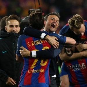 """Barcellona, Luis Enrique: """"Notte incredibile, era quasi impossibile"""""""