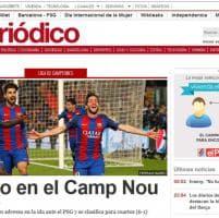 Champions, rimonta Barcellona col Psg: la notizia sui siti spagnoli e francesi