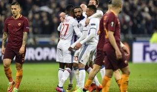 Lione-Roma 4-2: crollo giallorosso, per la qualificazione ora è dura