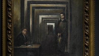 """Hitler pittore in mostra a Salò   foto   Sgarbi: """"E' il quadro di un disperato"""""""
