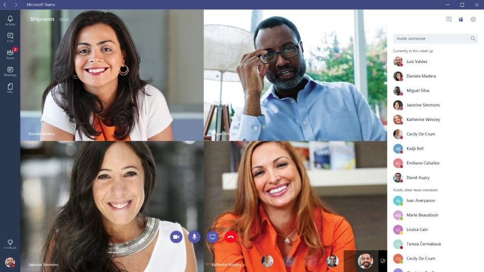 Microsoft Teams, ecco la chat integrata di Office