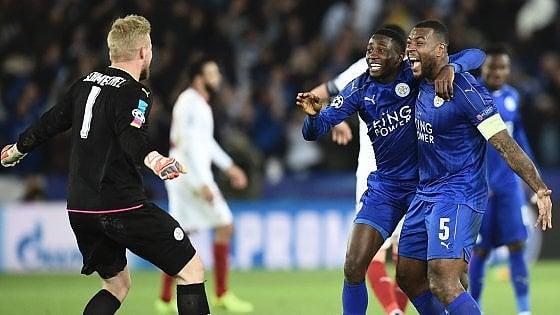 Champions, continua la favola Leicester: Siviglia ko e quarti di finale