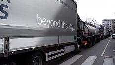 Tir in corteo, città invase da Bergamo ad Ancona