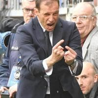 Sampdoria-Juventus, furia Allegri in panchina