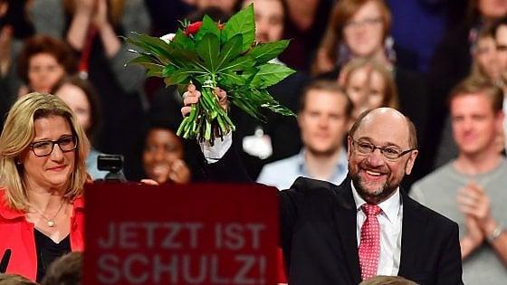 """Schulz presidente Spd col 100% dei voti: """"Per l'Europa serve una Germania forte e più equa"""""""