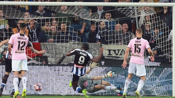 Udinese-Palermo 4-1: i rosanero si illudono, poi crollano