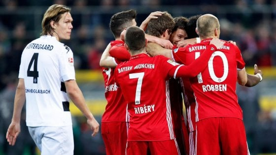 Germania, il Bayern vince e M'Gladbach e chiude i giochi per il titolo