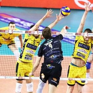 Volley, Superlega; semifinale gara 1: Lube piega Modena al tie break. Trento netto su Perugia