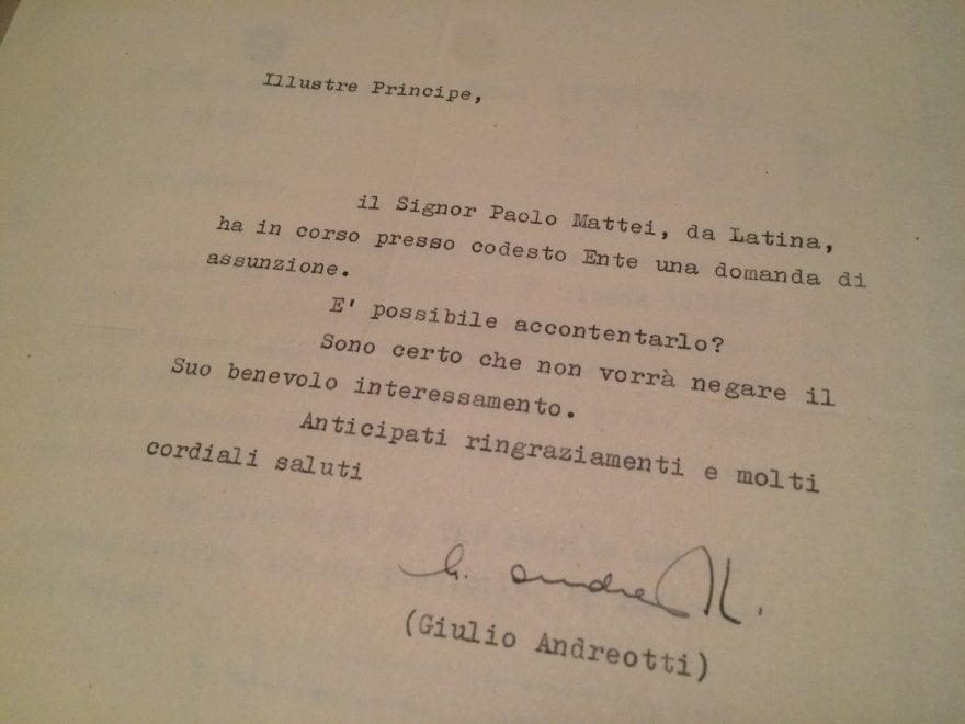 La Prima Repubblica delle raccomandazioni: le segnalazioni nelle lettere dei politici