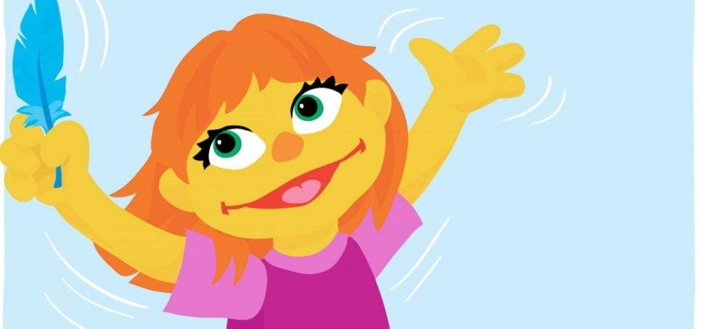Tra i Muppet arriva Julia: capelli rossi, occhi verdi e autismo