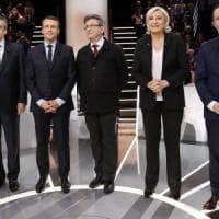 Corsa all'Eliseo, nel primo dibattito tv prevale Macron