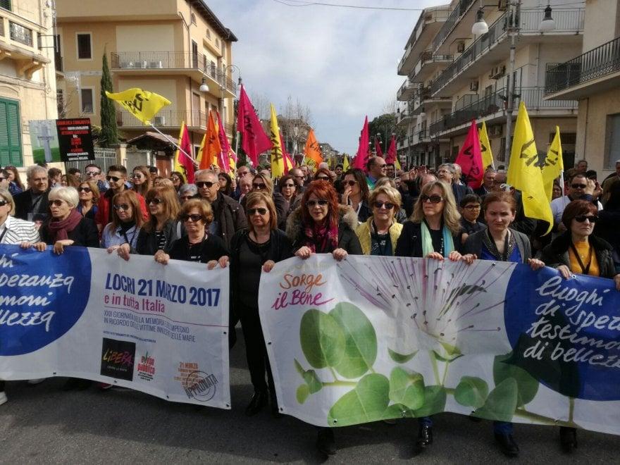 Corteo a Locri, in strada in memoria delle vittime di mafia