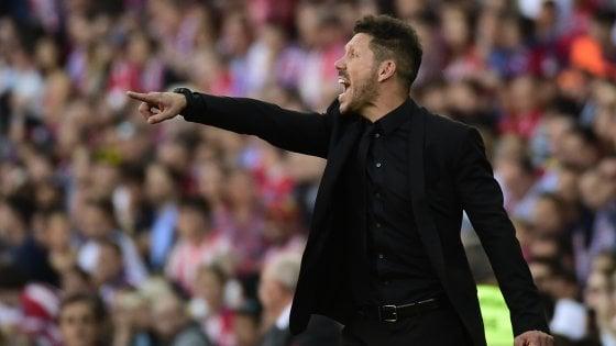 """Atletico Madrid, Simeone allontana l'Inter: """"Il prossimo anno mi vedo ancora qui"""""""