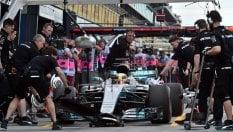 Ferrari dietro MercedesHamilton domina libere
