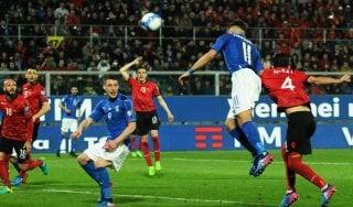 Italia-Albania 2-0, tra petardi e gol gli azzurri non sbagliano