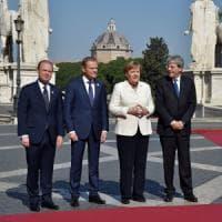 """Trattati Roma, i 27 capi di Stato in Campidoglio. Gentiloni: """"Ritroviamo il coraggio dei..."""