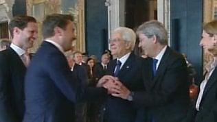 """Il premier lussemburghese a Mattarella: """"Ecco mio marito"""""""