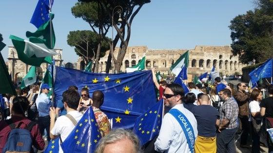 Celebrazioni Ue, in 5 mila al corteo europeista