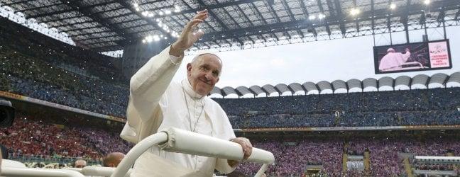 San Siro, 80mila giovani col Papa foto - liveTvUn milione di fedeli a Monza per la messa