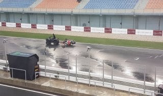 MotoGp, ancora rischio pioggia a Losail: gara potrebbe slittare a lunedì