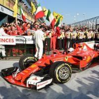 F1, Ferrari vince a Melbourne: la gioia di Vettel sul podio