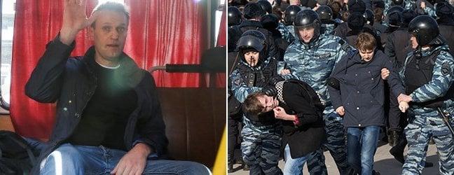Navalny arrestato a corteo contro corruzione