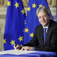 """Gentiloni: """"I vincoli Ue non sono intoccabili. C'è un margine di negoziato"""""""