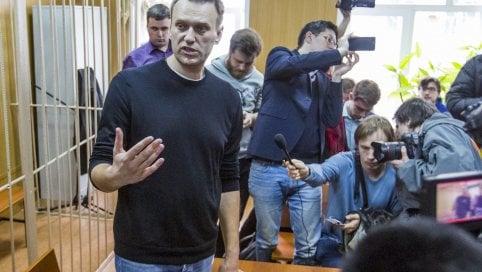 Navalny in aula poco prima del verdetto
