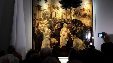 Restauro record: torna agli Uffizi l'Adorazione dei Magi di Leonardo   foto