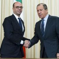 """Alfano a Mosca: """"Fede in libera manifestazione del pensiero"""". Lavrov: """"In Europa e Usa si..."""