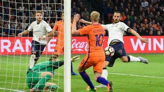 Olanda-Italia 1-2: Eder e Bonucci trascinano i debuttanti