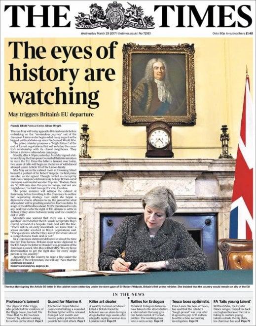 Brexit, le prime pagine dei quotidiani internazionali
