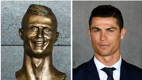 Madeira, una statua per Cristiano Ronaldo: la somiglianza è discutibile