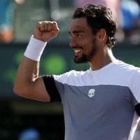 Tennis, Fognini batte Nishikori e vola in semifinale a Miami: le immagini del match