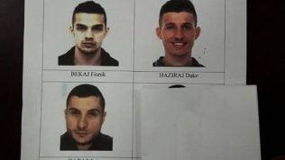 Le foto segnaletiche dei tre arrestati