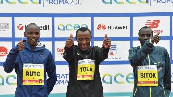 Maratona di Roma, dominio etiope: vincono Tola e Chota