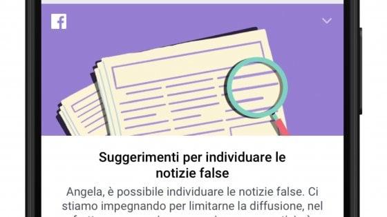 Facebook, una guida contro le notizie bufala per l'Italia