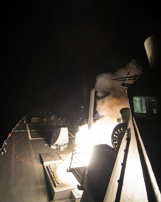 Attacco alla Siria: i missili lanciati dalle navi Usa