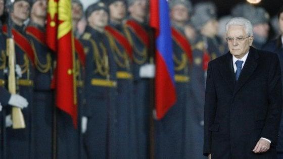 Mattarella a Mosca: Siria, Libia e linea del dialogo nei colloqui con Putin e Medvedev