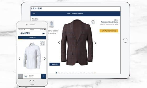 Online c è il futuro della camicia su misura. Condividi. Innovazione 2.0 e  heritage italiano. L esclusività di lanieri.com ... 5eba04c4f68