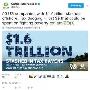 Oxfam, cresce il tesoro offshore delle multinazionali Usa: 1.600 miliardi