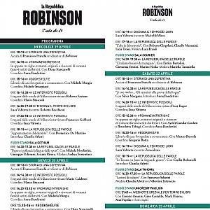 Robinson a Milano: il programma completo