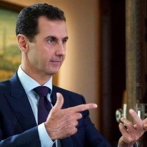 """Siria, Assad: raid chimico """"costruito al 100%, non possediamo più armi chimiche"""""""