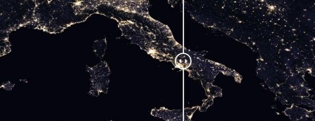 Ricami di luci e inquinamento luminoso, il nuovo atlante Nasa della Terra di notte