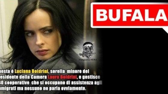 """L'ira di Boldrini sul web: """"Insultano mia sorella ma è morta da anni"""""""