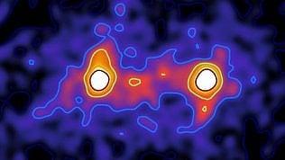 La prima immagine della materia oscura: come un ponte che collega le galassie