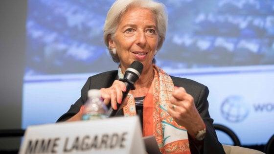 """Christine Lagarde: """"La crescita è ripartita ma protezionismo e instabilità rischiano di diventare un freno"""""""