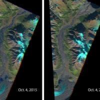 Canada, il ghiacciaio si ritira e il fiume 'sparisce' in pochi giorni